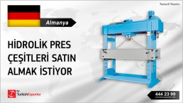 GERMANY LOOKING FOR HYDRAULIC PRESSES PRODUCERS