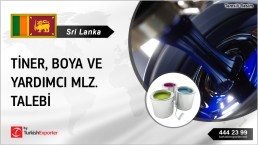 THINNERS, PAINTS REQUESTED FROM SRI LANKA
