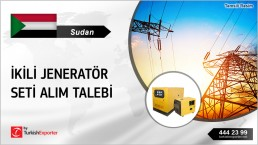 TURKEY BASED CLIENT NEED GENERATORS FOR PROJECT IN SUDAN