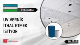 UV VARNISH FOR PVC CEILING PANELS IMPORT TO UZBEKISTAN
