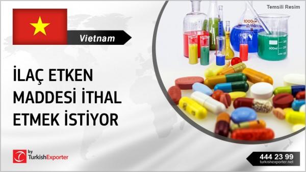 API CHEMICALS (FOR MEDICINES) SUPPLYING TO VIETNAM
