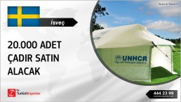 UNHCR TENT 20.000 UNITS ORDERING FROM SWEDEN
