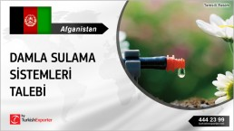 DRIP IRRIGATION SYSTEMS OFFER REQUEST FROM AFGHANISTAN