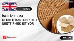 Corrugated carton boxes regular import to United Kingdom