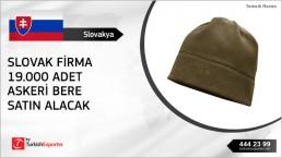 Berets buy inquiry from Slovakia