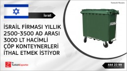 3000 liter waste bins for surface mounting