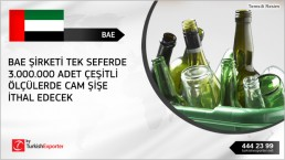 Glass bottles import to United Arab Emirates