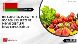 Fresh fruits and vegetables import to Belarus