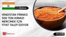 Red football lentils importation – India