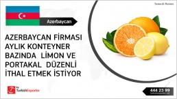 Orange – lemon import request – Azerbaijan