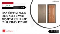 Wooden and steel doors – Iraq to import