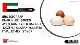 Eggs importing to United Arab Emirates