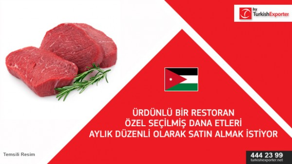 Import request for Veal meat – Jordan