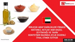 Food products importing to UAE