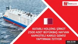 Vessel cargo ship for livestock purchasing – Qatar