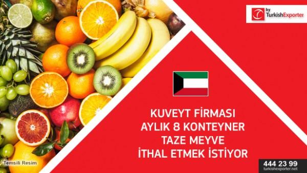 Fresh fruits to import to Kuwait