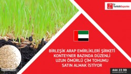 We're searching for new suppliers  for importing perennial grass seeds in UAE.