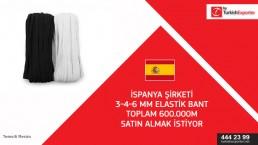 Elastic braid import to Spain