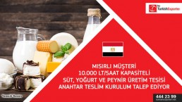 Dairy products plant set up request – Egypt