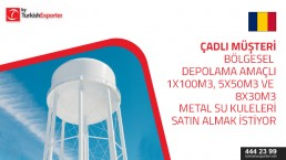 We would like to have a license / authorization from a stainless steel metal tank manufacturing company for the construction of 100m3 metal water towers, five (5) 50m3 metal water towers and eight (8) water towers 30m3 metal.