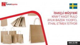 We are looking for suppllier for kraft paper for making shoping bags 1×20″ container per month