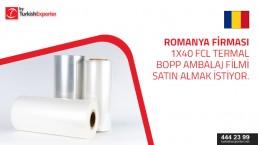 Inquiry for BOPP Thermal lamination film – Romania