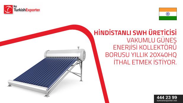 hindistan-güneş enerjisi kollektörü boru